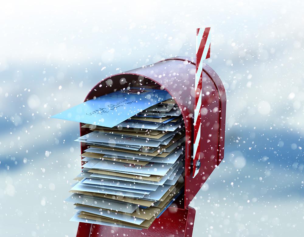 La boite aux lettres du Père Noël