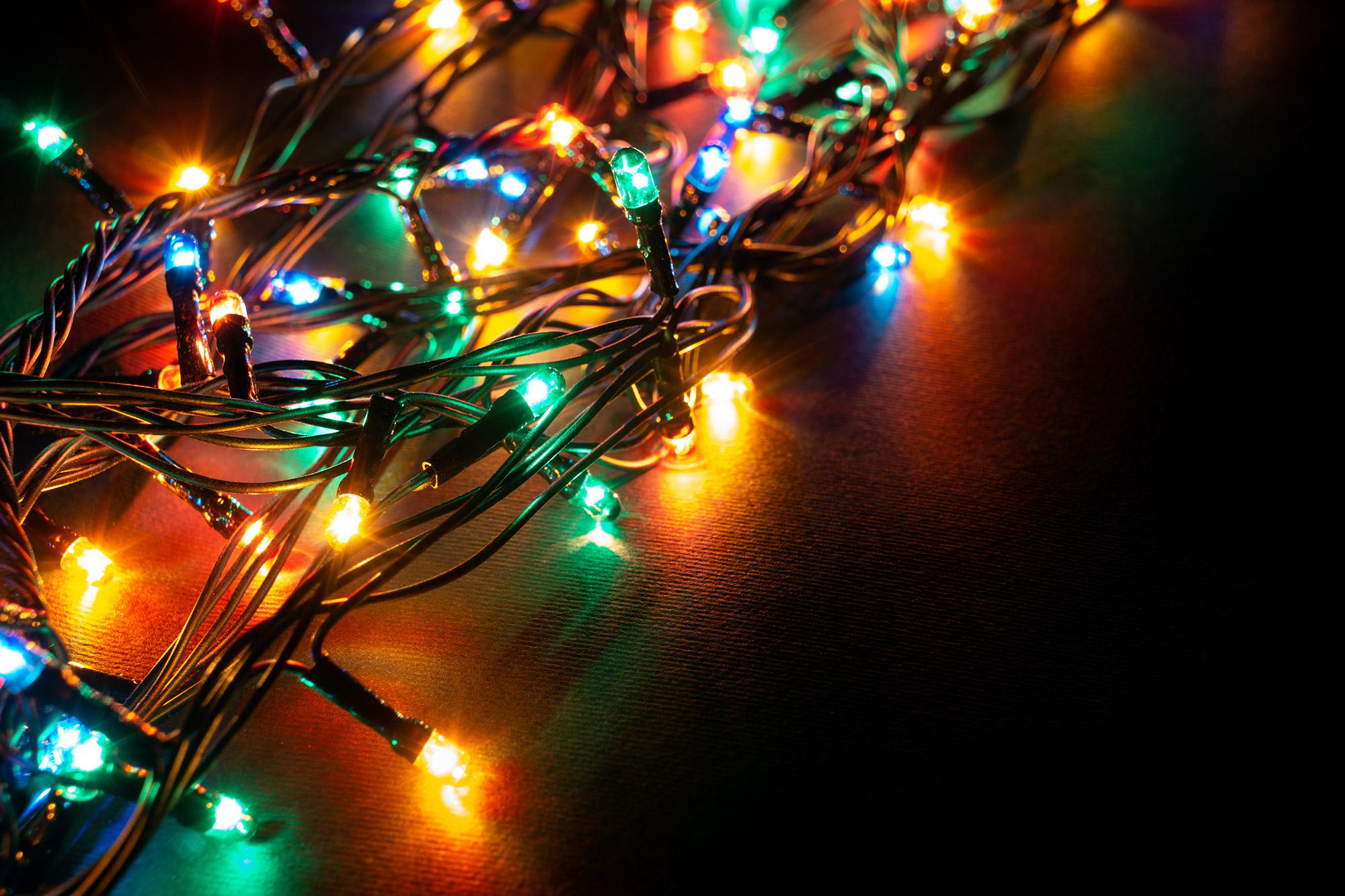 Un modèle de guirlande lumineuse pour Noël